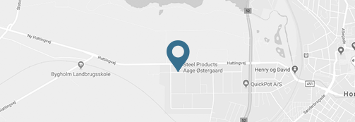 Karta över Steel Products Aage Østergaards geografiska läge
