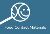 Blå knapp-Food Contact Materials
